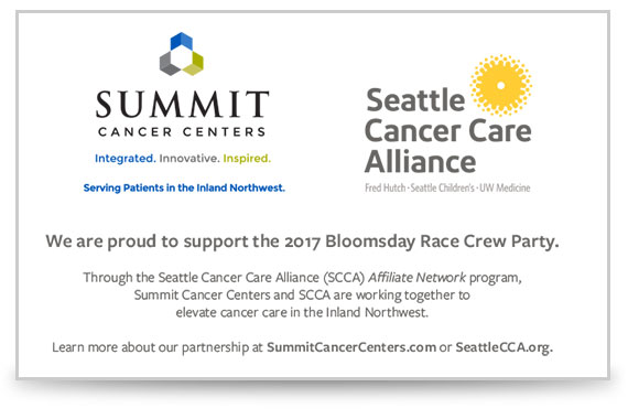 summit cancer centers and scca bloomsday sponsors