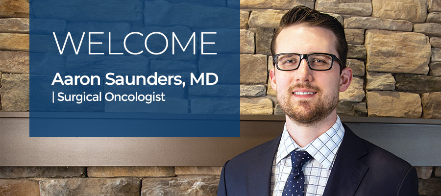 Welcome Dr. Aaron Saunders
