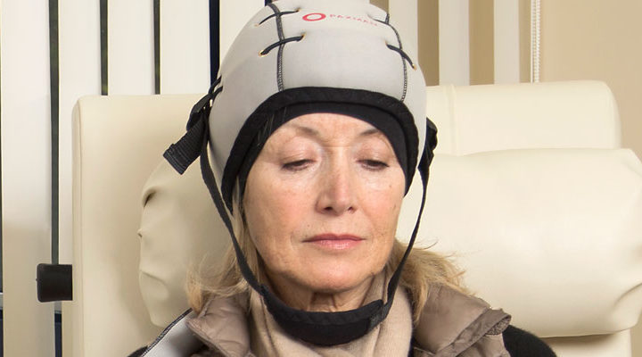 Scalp cooling system at Summmit Cancer Centers